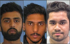 Aucklanders Hitesh Sharma, Manish Khan, and Tushar Prabhakar are being sought by police over a phone scam.
