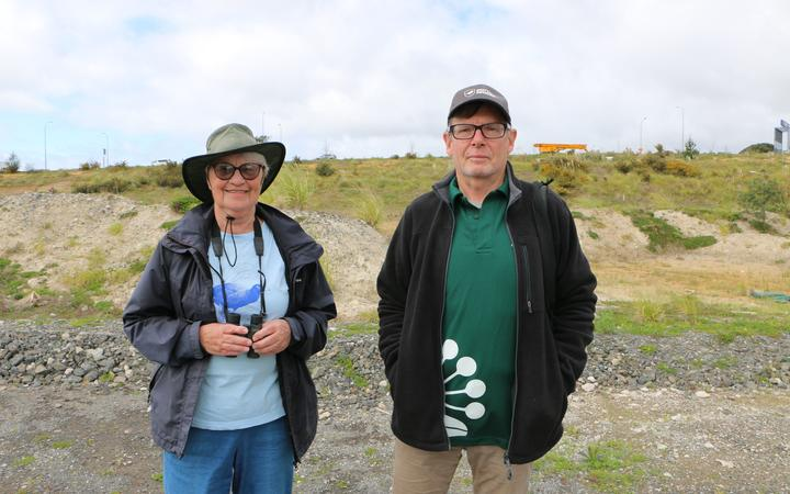 Dotterel minders Gwenda Pulham and Noel Ward.