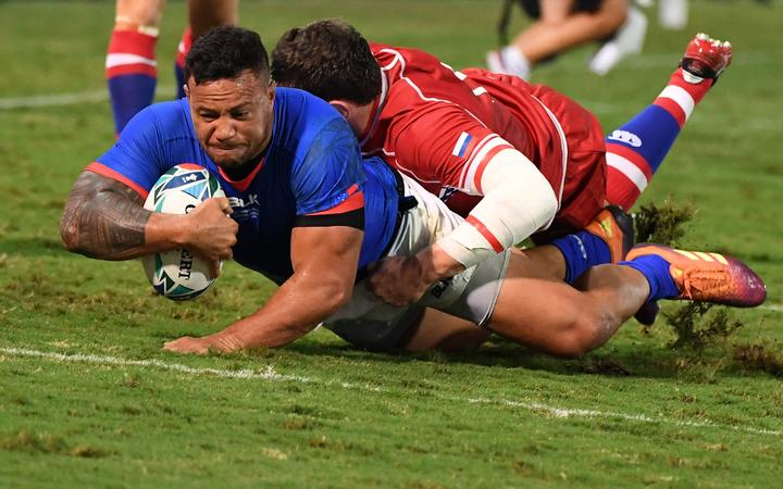 Samoa ease past battling Russian Federation in bruising Rugby World Cup encounter