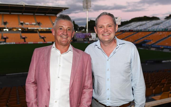 Chief executive Mark Robinson, left, and managing director Rob Croot of Autex Industries, the company who own the Warriors.