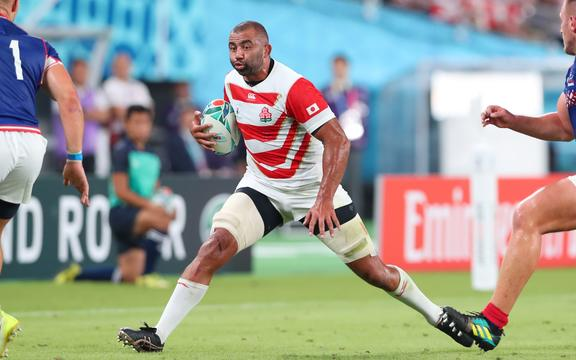 Michael Leitch playing for Japan.
