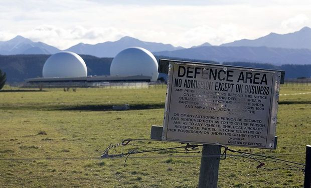 The Waihopai spy base in Blenheim.