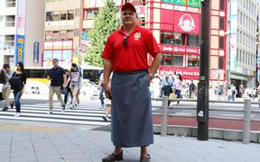 Tongan man Palei Takai lives in Japan. He moved there on a scholarship and has lived there for 40 years.