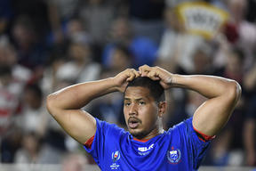 Samoa winger Ed Fidow was sent off after receiving two yellow cards and will now front the judiciary.