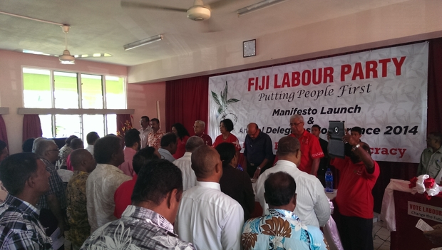 Members at the launch of the Fiji Labour Party's Manifesto in Suva