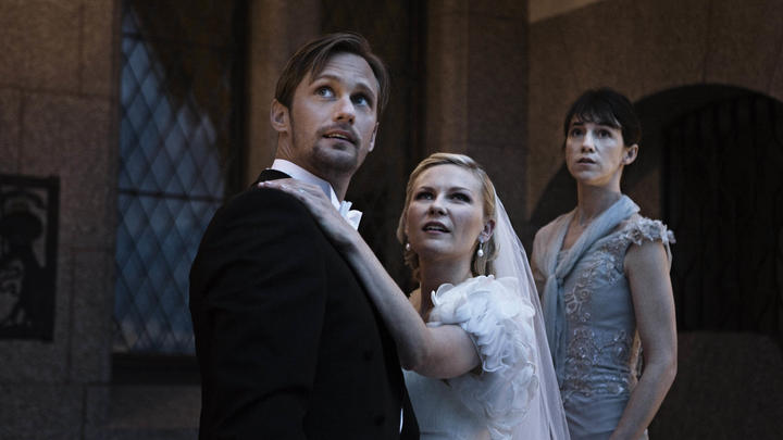 Alexander Skarsgård, Kirsten Dunst and Charlotte Gainsbourg spot the end of the world in von Trier's Melancholia (2010).