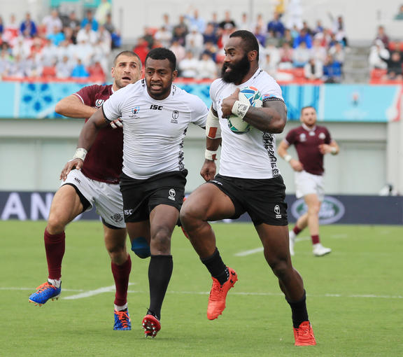 Semi Radradra scored two tries and set up three others for Fiji.