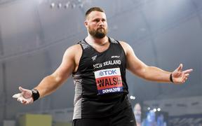 Tom Walsh qualifies for the final in one throw at the World Athletics Championships.  Khalifa International Stadium, Doha, Qatar. 3 October, 2019. Copyright photo: Alisha Lovrich / Athletics New Zealand