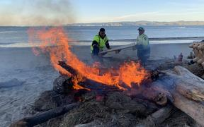 Bonfire in Gisborne to mark start of Tuia 250