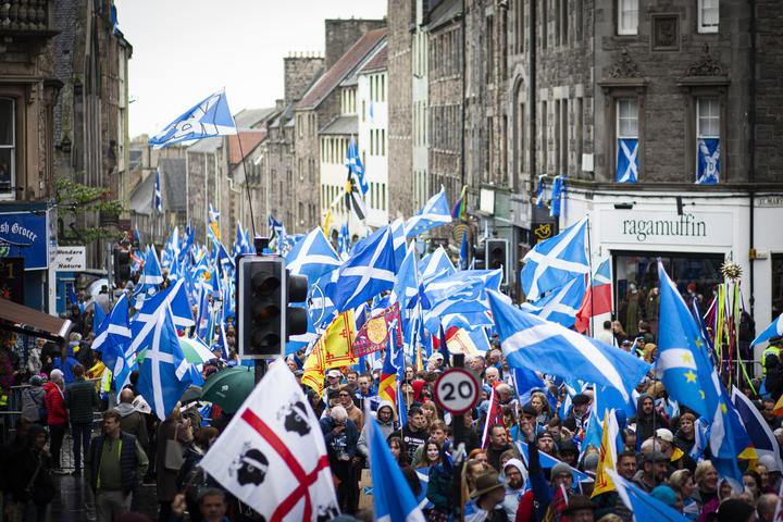 Pro-Scottish independence supporters.