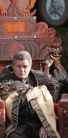 The current Maori King Tuheitia Paki - expected to decide on bust of first king.