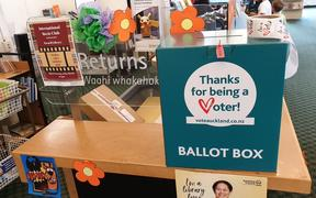 Auckland local elections ballot box at Parnell library