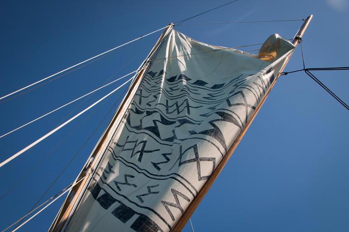 Setting sail.