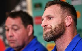All Blacks Captain Kieran Read at a press conference this week.