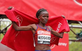 Brigid Kosgei of Kenya.