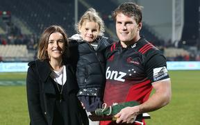 Matt Todd with his partner Anna McCormack and their daughter Sadie Todd.