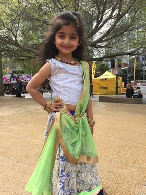 Young performer at Auckland's Diwali Festival