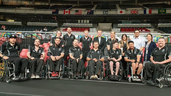 The New Zealand Wheel Blacks team in Tokyo.