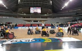 The Wheel Blacks playing Australia in Tokyo.