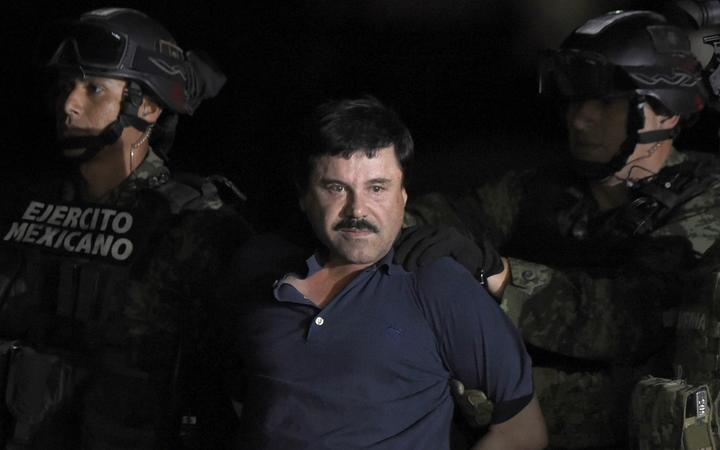 In this file photo taken on January 8, 2016 Mexican Drug kingpin Joaquin