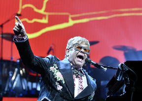 Elton John performing in Vienna in May Vienna on 1 May 2019.