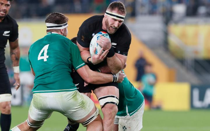 Kieran Read during the second half of New Zealand v Ireland, Quarter Final, Rugby World Cup 2019 at Tokyo Stadium, Japan. 19th October 2019. Copyright Image: Kenji Demura / www.photosport.nz
