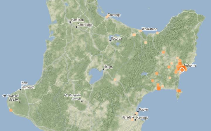 The quake was centred 5km from Gisborne.