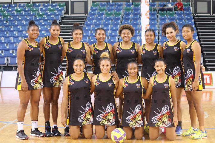 The PNG Pepes team at the Nations Cup in Singapore.