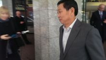 Donghua Liu leaving Auckland District Court on Wednesday.