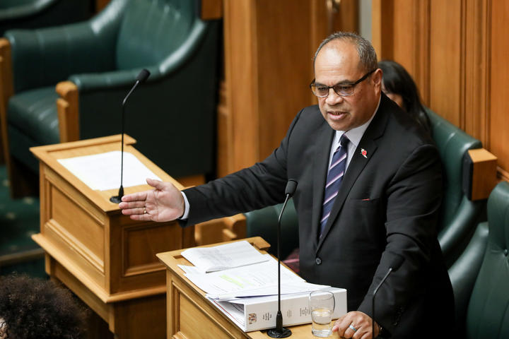 Labour MP Aupito William Sio contributes to the General Debate in the House