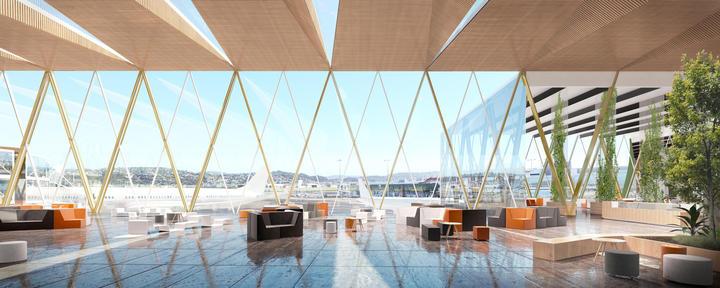 Artist impression of Wellington Airport upgrade.