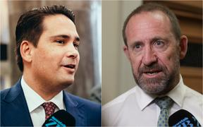 Simon Bridges and Andrew Little