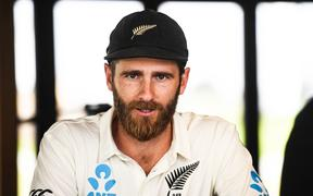Black Caps captain Kane Williamson talks to the media.