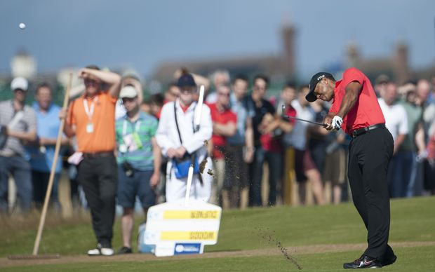 Tiger Woods at Hoylake, England. The Open Golf Championship, Final Round. 2014.