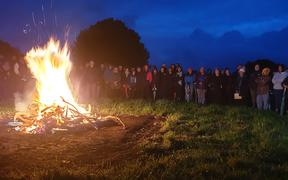 A dawn service was held at Te Kohia Pa on the outskirts of Waitara where the first shots of the New Zealand wars were fired in 1860.