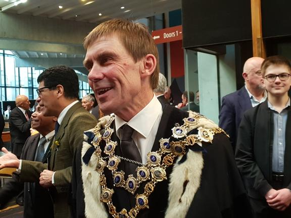 Andy Foster is confident the mayoral chains won't be handed back to Justin Lester.