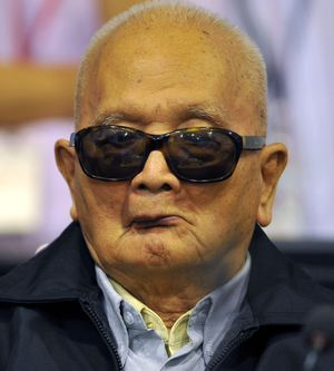 Nuon Chea, the  88-year-old former chief ideologue of the Khmer Rouge.