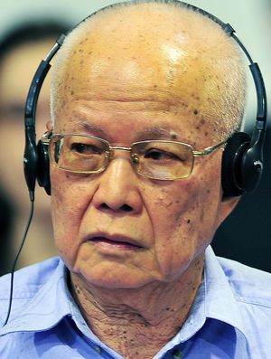 Khieu Samphan, the  83-year-old former president of the Khmer Rouge.