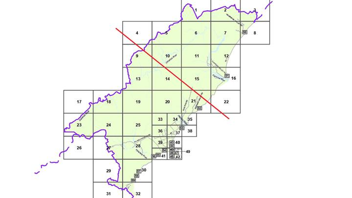 Kaikōura's ratepayer region would be cut almost in half if residents north of Ōhau Point, or the red line, were absorbed by the Marlborough District Council.