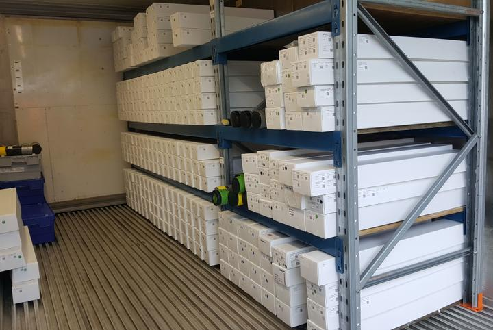 Hundreds of sediment cores are stored in special boxes in a refrigerated container at the National Isotope Centre at GNS.