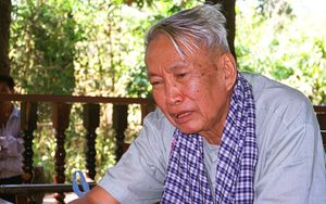 Pol Pot pictured in northern Cambodia in 1998.
