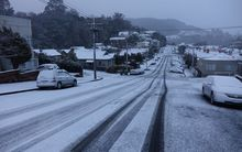 Dunedin's roads have had a blanket of snow.