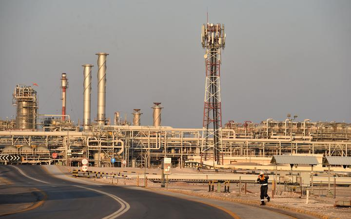 A general view of Saudi Aramco's Abqaiq oil processing plant.