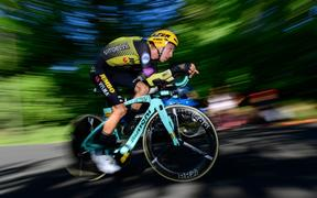 George Bennett in action for Jumbo-Visma