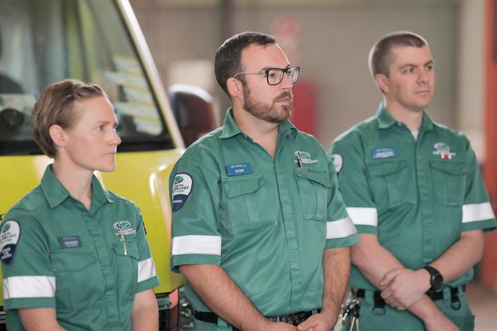 Paramedics at the government's announcement of plans to register those in the profession as health practitioners, and the setting up of a regulatory body.