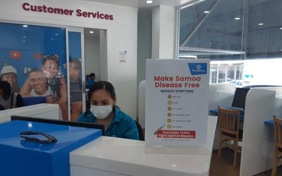 Surgical face masks are now becoming a common sight in the shops and streets of Apia as the community responds to the measles alert.