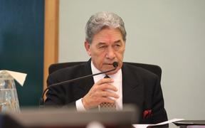 Winston Peters at the second day of his privacy case at the High Court in Auckland.
