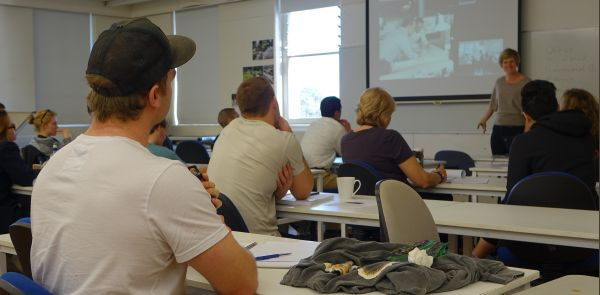 Students at a landscape lecture at Unitec in Auckland.