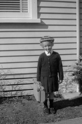 Professor Susan Morton on her first day of school in 1966