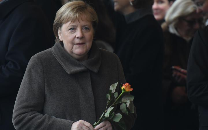 Berlin Wall: Merkel warns democracy is not `self-evident`